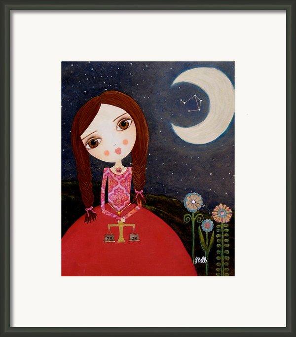 Zodiac Libra Framed Print By Laura Bell