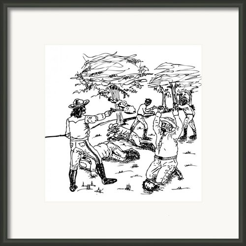 Zombie Cowboy Framed Print By Karl Addison