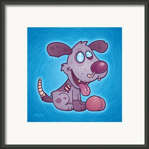Zombie Puppy Framed Print By John Schwegel