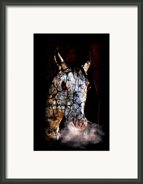 Zombified Horse Framed Print By Gravityx Designs