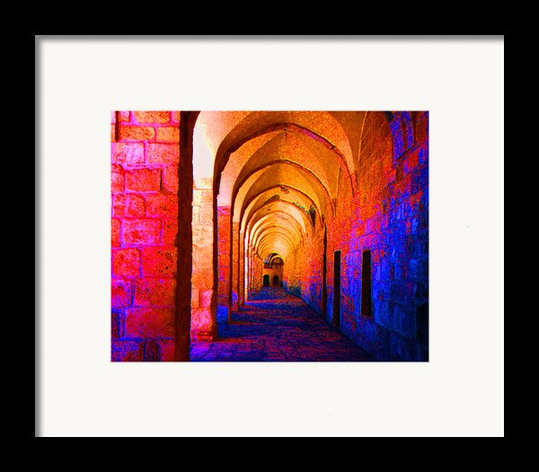 Arches Surreal Framed Print By Merton Allen