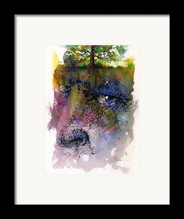 Face With Tree Framed Print By John D Benson