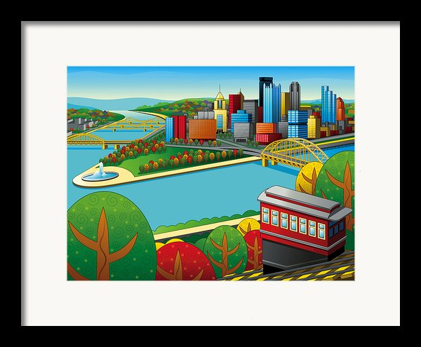Fall From Above Rendered Framed Print By Ron Magnes