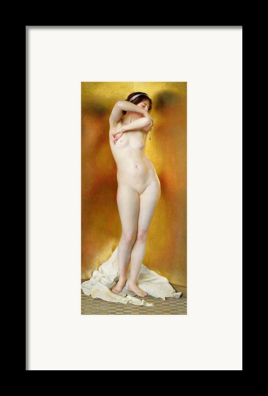 Glow Of Gold Gleam Of Pearl Framed Print By William Mcgregor Paxton