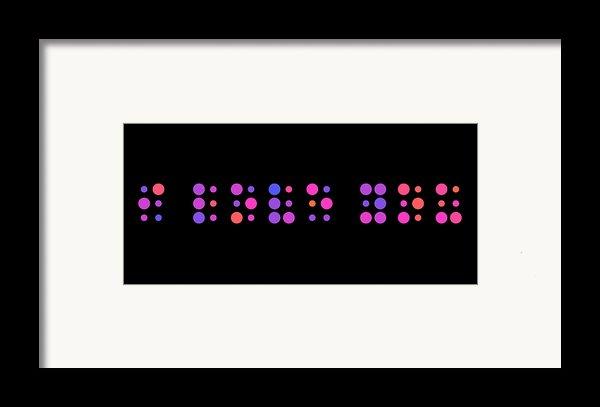 I Love You - Braille Framed Print By Michael Tompsett