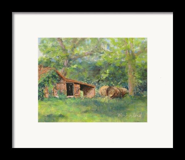 Leftover Hay Framed Print By Lorraine Mcfarland
