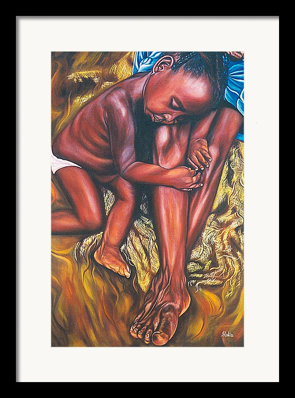 Mother And Child Framed Print By Shahid Muqaddim