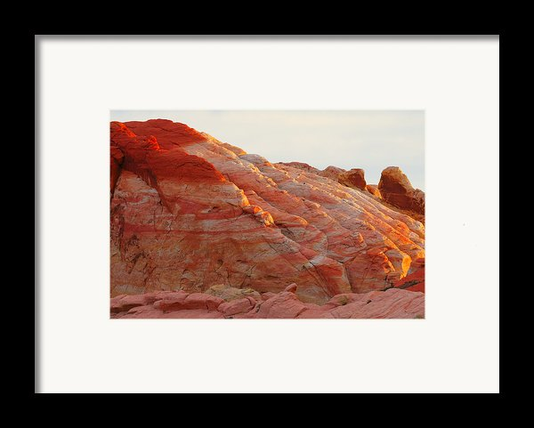 Petrified Fire Framed Print By Christine Till
