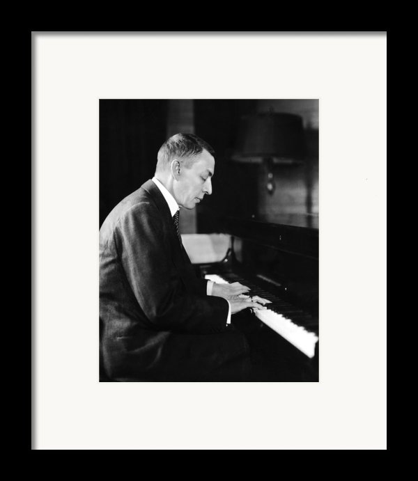 Russian Composer And Pianist Sergei Framed Print By Everett