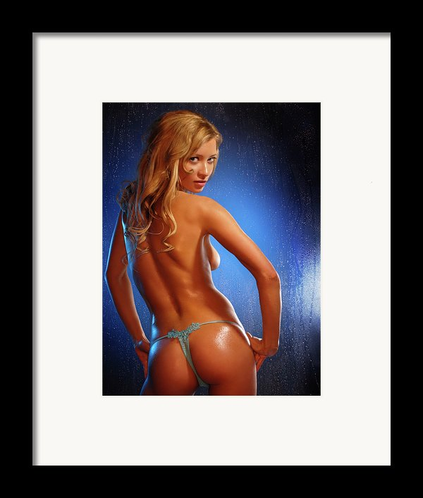 Sexy Young Woman Framed Print By Oleksiy Maksymenko