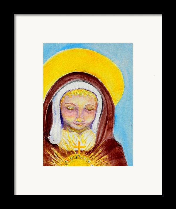 St. Clare Of Assisi Framed Print By Susan  Clark