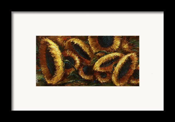 Sunflowers Framed Print By Michael Lang
