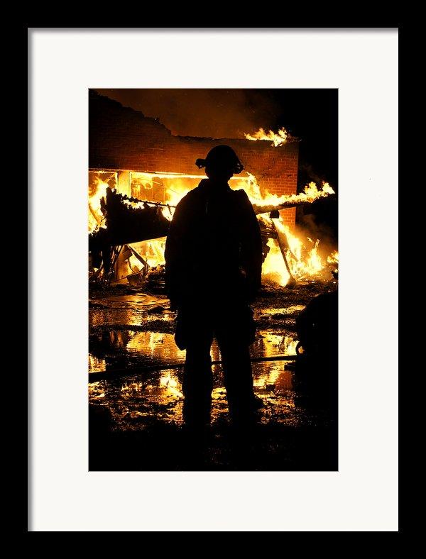 The Fireman Framed Print By Benanne Stiens