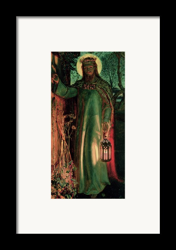 The Light Of The World Framed Print By William Holman Hunt