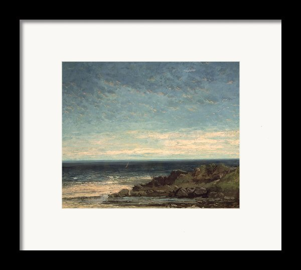 The Sea Framed Print By Gustave Courbet