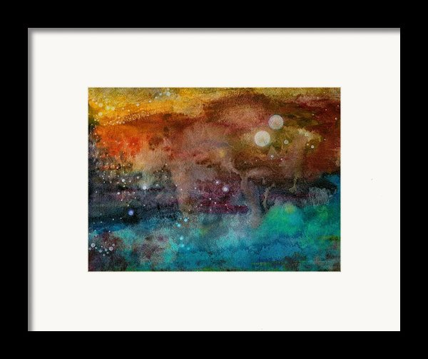 Twilight In The Cosmos Framed Print By Janet Hinshaw