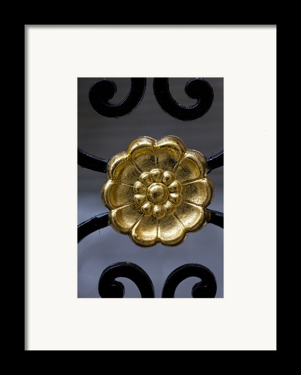 Wrought Iron Gate Details Framed Print By Robert Ullmann