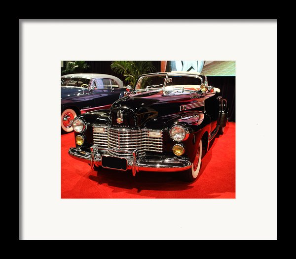 1941 Cadillac Series 62 Convertible Coupe . Front Angle Framed Print By Wingsdomain Art And Photography