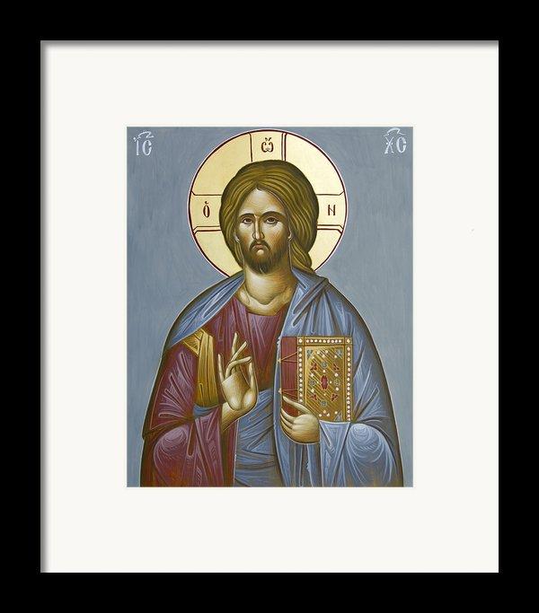 Christ Pantokrator Framed Print By Julia Bridget Hayes