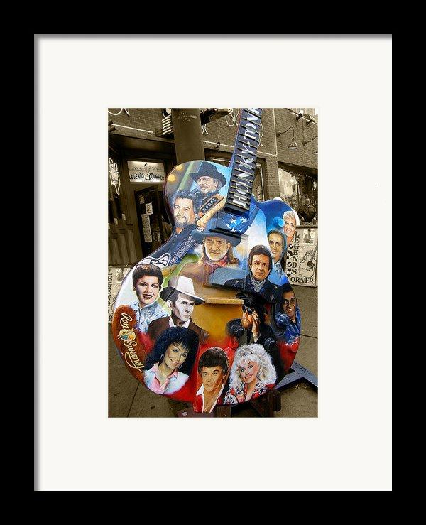 Nashville Honky Tonk Framed Print By Barbara Teller