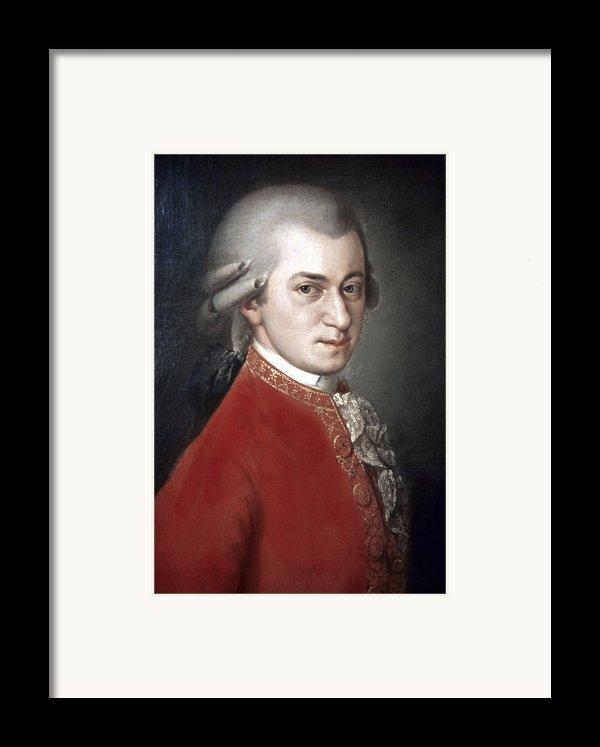 Wolfgang Amadeus Mozart Framed Print By Granger
