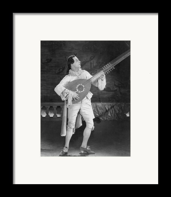 Rudolph Valentino Framed Print By Granger