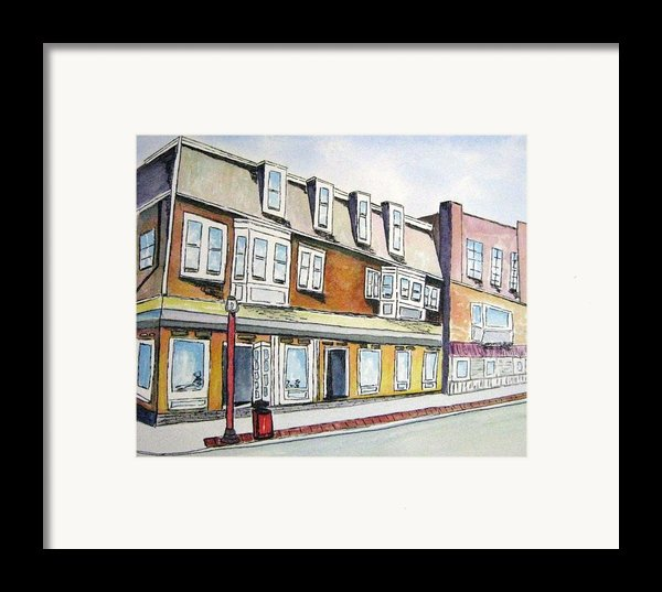 5th And Cambridge Streets Cambridge Mass Street Sweep Day Framed Print By Carolyn Weir