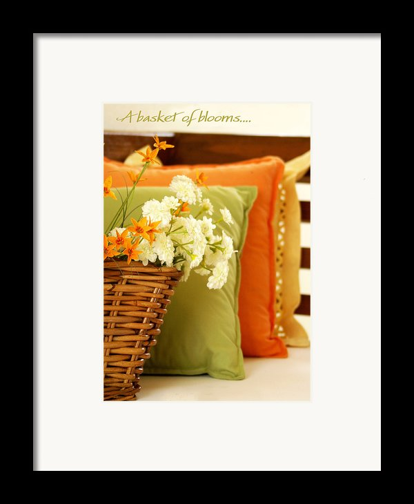 A Basket Of Blooms Framed Print By Holly Kempe