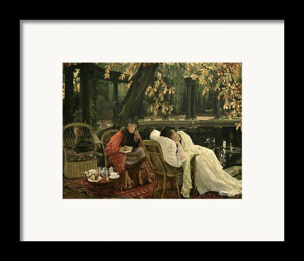 A Convalescent Framed Print By James Jacques Joseph Tissot