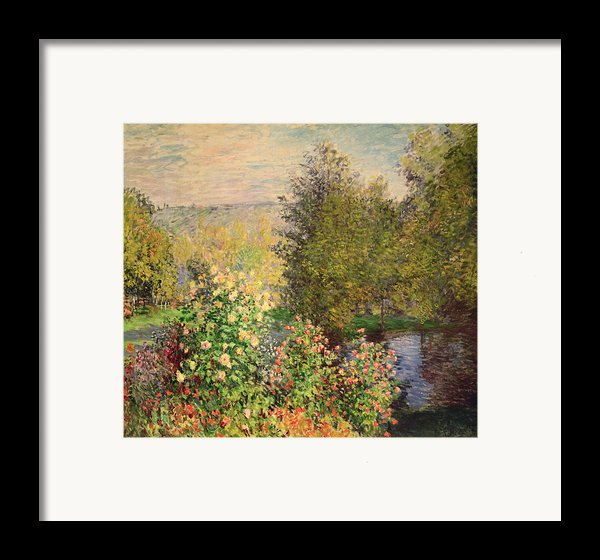 A Corner Of The Garden At Montgeron Framed Print By Claude Monet