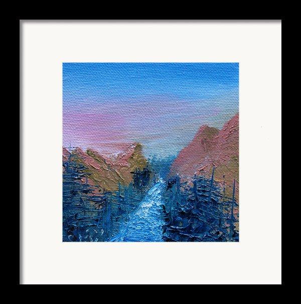 A Mighty River Canyon Framed Print By Jera Sky