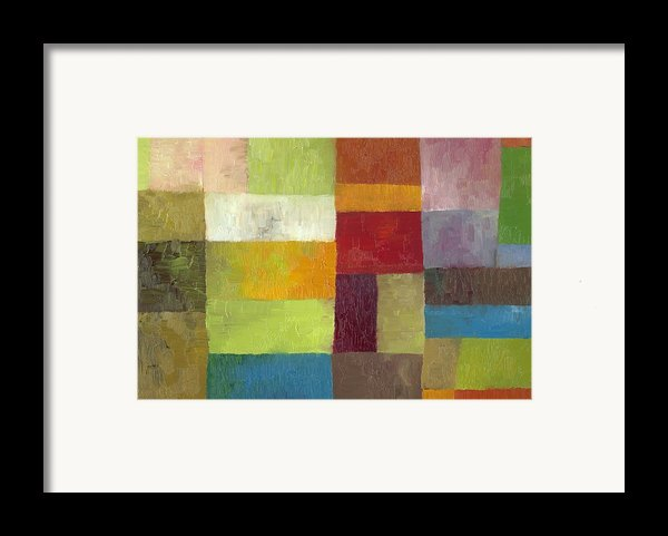 Abstract Color Study Lv Framed Print By Michelle Calkins