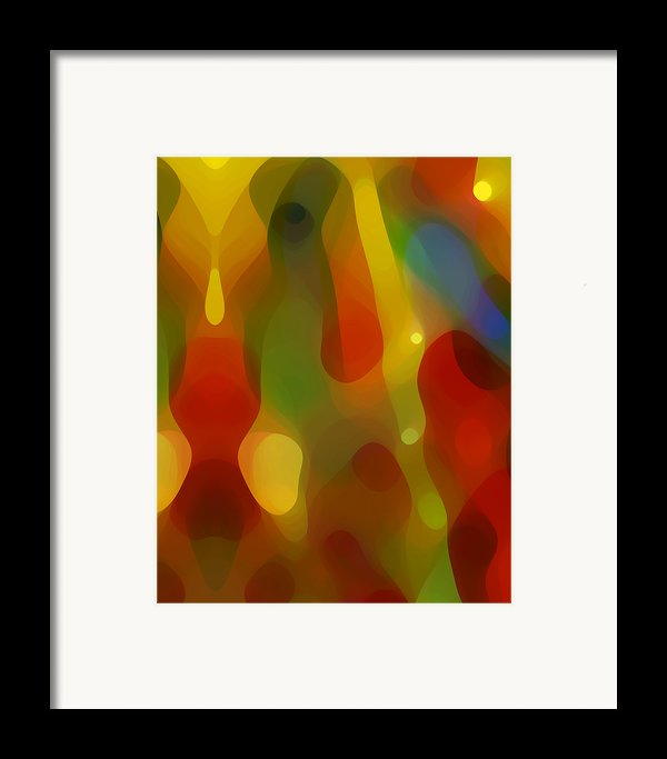 Abstract Flowing Light Framed Print By Amy Vangsgard