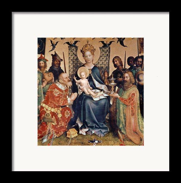 Adoration Of The Magi Altarpiece Framed Print By Stephan Lochner