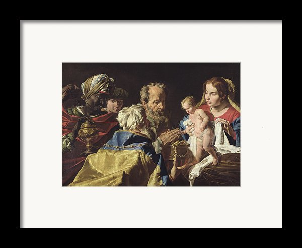 Adoration Of The Magi  Framed Print By Matthias Stomer