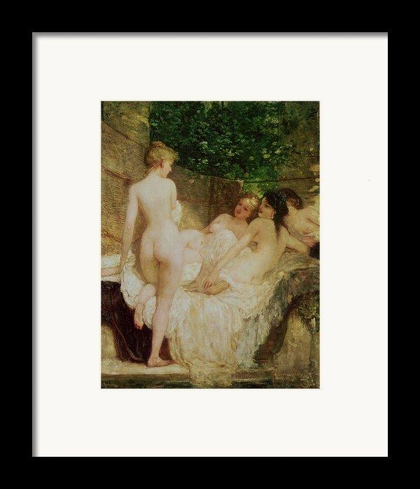 After The Bath Framed Print By Karoly Lotz