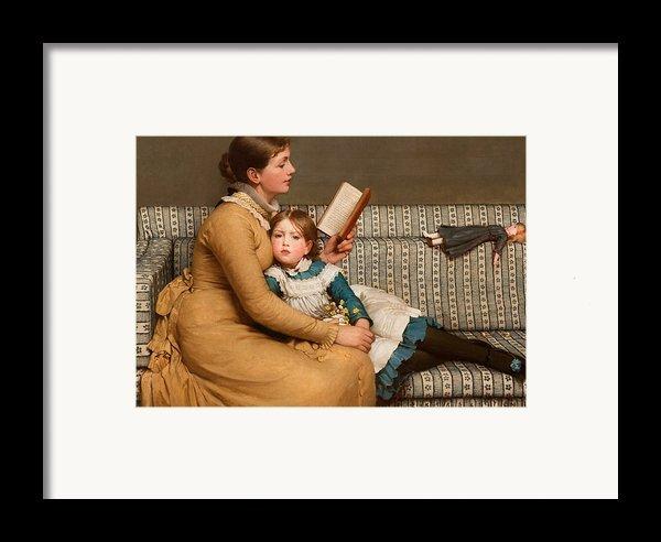 Alice In Wonderland Framed Print By George Dunlop Leslie