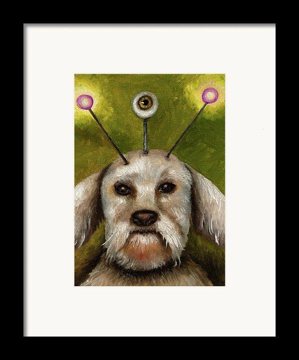Alien Dog Framed Print By Leah Saulnier The Painting Maniac