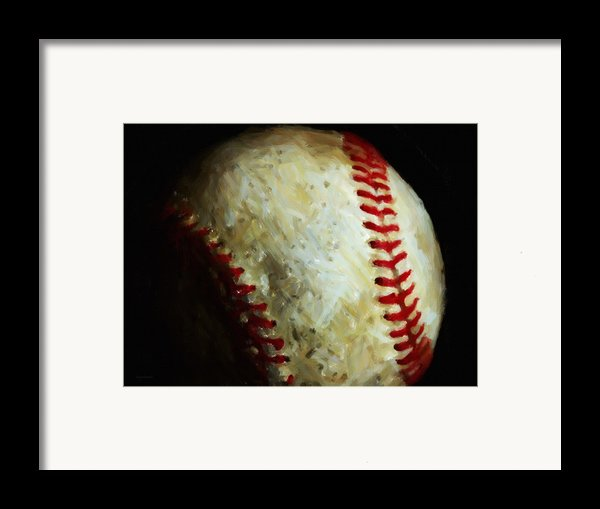 All American Pastime - Baseball - Painterly Framed Print By Wingsdomain Art And Photography