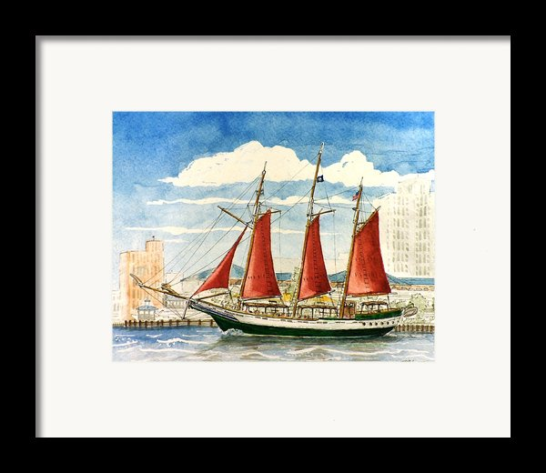 American Rover At Waterside Framed Print By Vic Delnore