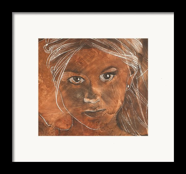 Angel In Process Head Detail Framed Print By Richard Hoedl