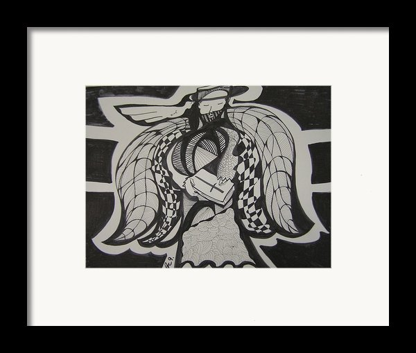 Angel Receiving Prayer Framed Print By Jimmy King