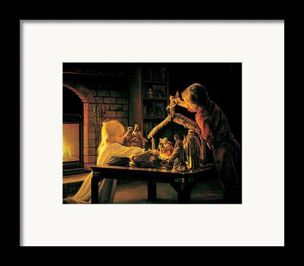 Angels Of Christmas Framed Print By Greg Olsen