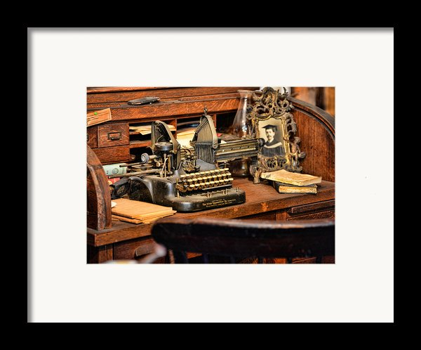 Antique Typewriter Framed Print By Paul Ward