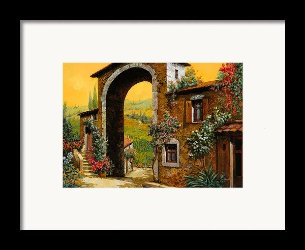 Arco Di Paese Framed Print By Guido Borelli