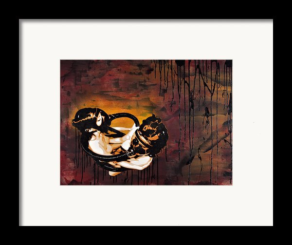 Asphyxiation By Oil Dependency Framed Print By Iosua Tai Taeoalii
