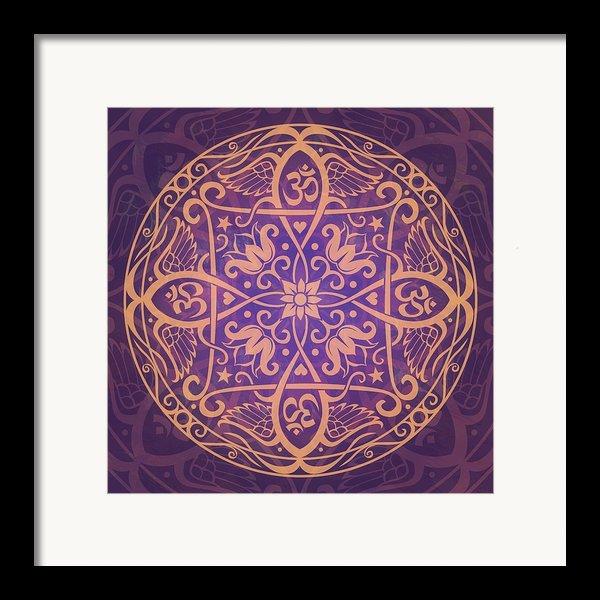 Aum Awakening Mandala Framed Print By Cristina Mcallister