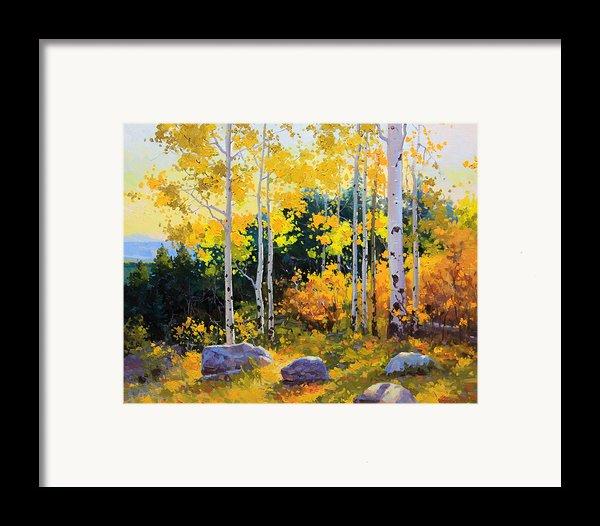 Autumn Beauty Of Sangre De Cristo Mountain Framed Print By Gary Kim