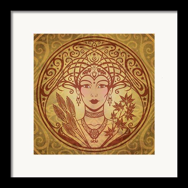 Autumn Queen Framed Print By Cristina Mcallister