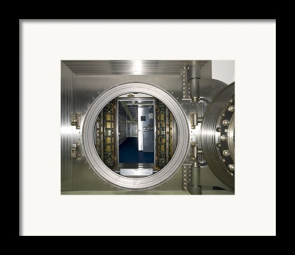 Bank Vault Interior Framed Print By Adam Crowley